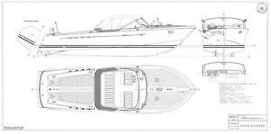 RIVA AQUARAMA, Motorjacht. Bauplan RC