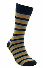 "Men Luxury Bamboo Seamless Striped Casual Socks ""Colorful Star"" by Rambutan"