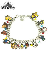 Disney's Classic Characters (12 Themed Charms) Assorted Metal Charm Bracelet