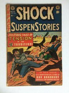 Shock Suspenstories #9, UNRESTORED, nice