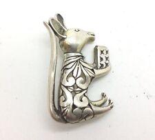 Cute Mouse Design Sterling Silver 925 Brooch 8g 4cmx2cm Y4389