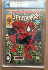 SPIDER-MAN #1 PGX GRADED NM 9.4 BAGGED EDITION TODD MCFARLANE WHITE PAGES MARVEL