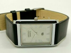 Seiko Quartz Super Slim Men Steel White Dial Excellent Watch Run Order
