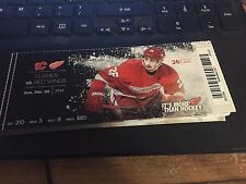 2015 DETROIT RED WINGS VS CALGARY FLAMES TICKET STUB 12/20 TOMAS JURCO