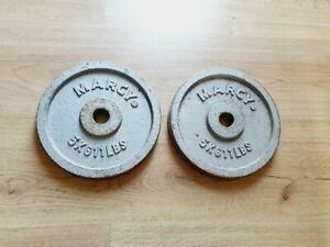 Marcy 5kg Plates x 2 1 inch hole weights