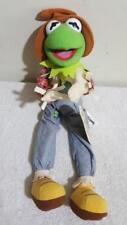 Kermit Muppets Scarecrow Farmer Doll Plush Poseable 11 inch Sesame St Disney