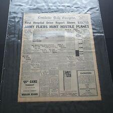 LEOMINSTER DAILY ENTERPRISE WWII NEWSPAPER DEC 9th 1941 JAPAN PEARL HARBOR