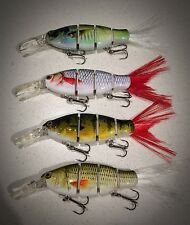 "SPECIAL: 4 Piece ""Killer Crank"" 10cm Diving Swimbait Fishing Lure Pack 25g"