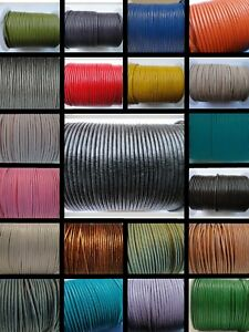 Leather Cord Round 1, 1.5, 2, 3, 4MM 100% Real String Lace Thong Jewellery - HQ