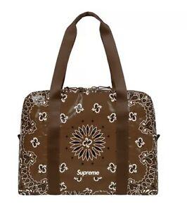 Supreme Bandana Brown Tarp Large Duffle Bag SS21 WEEK 8 (IN HAND) AUTHENTIC NEW