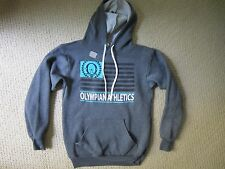 OVER THE LIMIT APPAREL GRAY OLYMPIAN ATHLETICS GRAPHIC SWEATSHIRT HOODIE SMALL