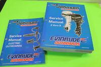 "USED LIKE NEW OMC Johnson Evinrude Service Manual Set ""EC"" 2-55 HP/520201-520206"