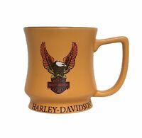 Harley Davidson Motorcycles Eagle Coffee Mug Cup Orange & Black 2012