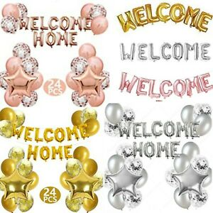 """16"""" WELCOME HOME Letter Balloons(GOLD,SILVER,ROSE GOLD) Foil Baloons Party Decor"""