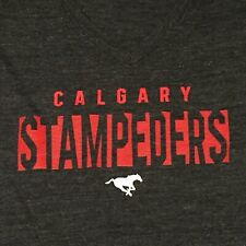 NEW size small (S) Calgary Stampeders Adidas women's tee in grey with red