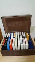 A2- 8 Track Tape Vintage Lot 21 Piec Collection Case Mix Gospel Love Music Bible