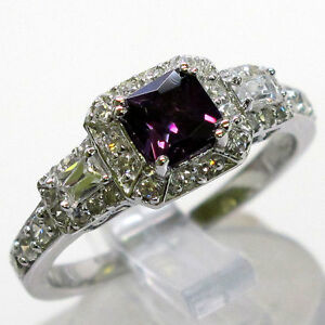 BEAUTIFUL AMETHYST 925 STERLING SILVER RING SIZE 5-10