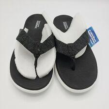 Skechers Goga Max On The Go Gray Flip Flops Sandals Gen 5 Women's Size 8