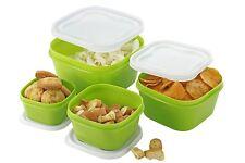 Food Storage Container Green Set 4 Lids Freezer Safe Microwave BPA Free Airtight