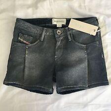 "Diesel Pullyx Girls Age-8 Blue Shorts BNWT RRP £79 Pants Jeans 4 xxs 22"" 23"""