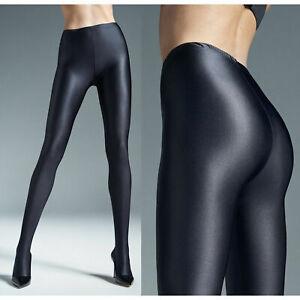 GATTA BLACK BRILLANT Shiny Opaque Glossy Pantyhose Tights 120 DEN S M L XL