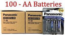 100 Wholesale Panasonic AA Double A Batteries heavy Duty Battery 1.5v Bulk lot