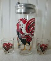 "Vintage 1940's Hazel Atlas ""Crowing Rooster"" Cocktail Shaker   Near MINT"