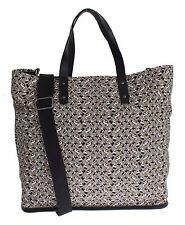 NWT $1300 DOLCE & GABBANA Mens Car Print Cotton Leather Gym Travel Shoulder Bag