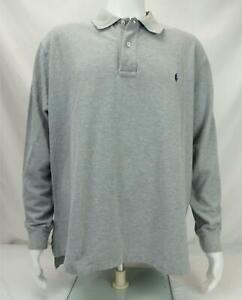 Polo Ralph Lauren Long Sleeve Polo Shirt Gray Men's 1XB