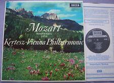SXL 6056 MOZART Symphony 33 39 KERTESZ VPO NEAR MINT UK Decca 2W/2W Narrow Band