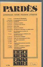 65493 - Pardès : Anthropologie, histoire, philosophie, littérature (4-1986).