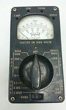 Triplet Voltmeter Vintage Model 666-R Ammeter Ohmmeter Bakelite Case Black