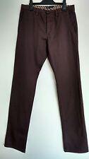 "AQUASCUTUM slim leg casual chino trousers size 32 L34"" --MINT--"