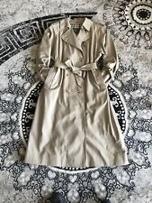 Burberry Classic Beige Tan trench coat 80s Checked Size14 long VGC