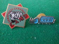 Zebra Serengeti Caravan Camp & Rhinoceros Rhino Disney hat Pins Animal Kingdom