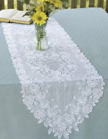 """Heritage Lace TEA ROSE Table Runners 72"""" - 2 Colors"""