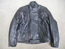 X Element Black Leather Biker Chopper Crotch Rocket Motorcycle Jacket Men's Med