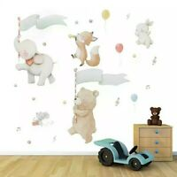 DIY Wall Stickers Nursery Kids Room Removable Mural Decal Decor Elephant Rabbit