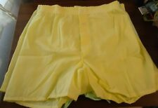 Nos Vtg Hanes Yellow & Green Snap Front Scovil Boxers 1970s sz 32 Unworn Read