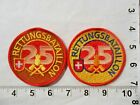 Lot of 2 SWISS Fire & Rescue Batalion 25  Embroidered Patches  FREE shipping