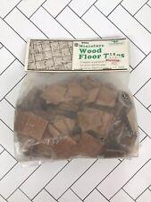 Vintage Greenleaf 9003 Miniature Wood Floor Tiles New In Bag Parquet 1x1