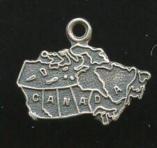 Canada Provinces Territories Bracelet Charm Vintage 925 Sterling Silver AI950