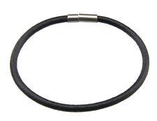 Bracelet cuir Homme Femme fermoir clips metal bijou ethnique noir  BB 21041 C7