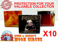 10x MUSIC CD CARDBOARD CD CASE - CLEAR PLASTIC PROTECTIVE BOX PROTECTOR SLEEVE
