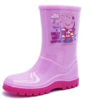GIRLS PINK PEPPA PIG SPLASH RAIN WELLIES WELLINGTONS SCHOOL BOOTS INFANT SIZE 9