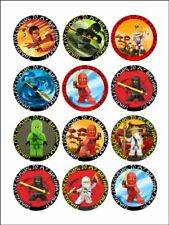 24 LEGO NINJAGO Cupcake Edible Wafer Paper Birthday Cake Decoration Topper #1