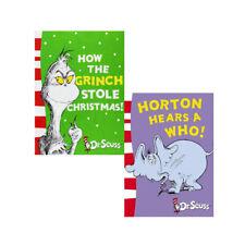 Dr. Seuss Collection, 2 Books Set How the Grinch Stole Christmas!, Horton Hears