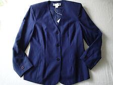 DIANE VON FURSTENBERG  sz 10 ,BLAZER,jacket top NAVY BLUE silk blend P