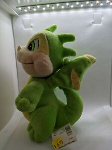 NWT NEW Neopets Plush Green Scorchio 2007 Vintage Plushie Limited Too 8.5""