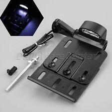 Motor Black Folding Side LED License Plate Light Frame Hold Mount for Harley